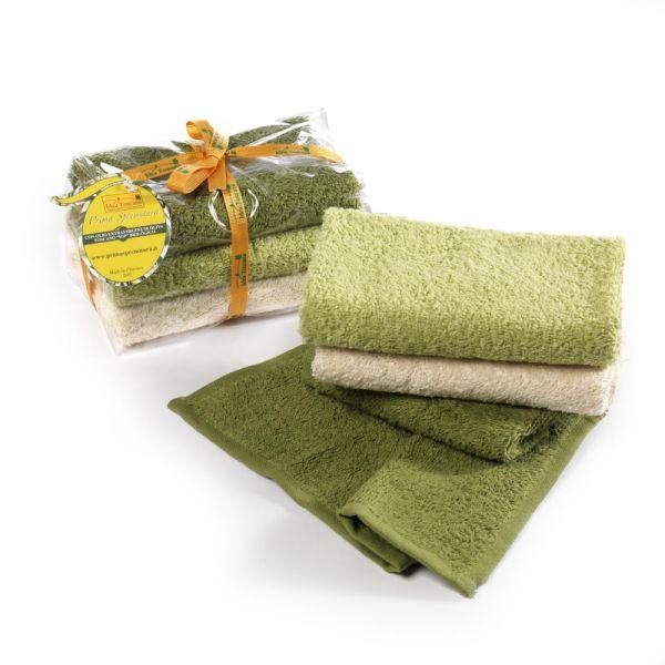 Set 3 Waschlappen 100% Baumwolle