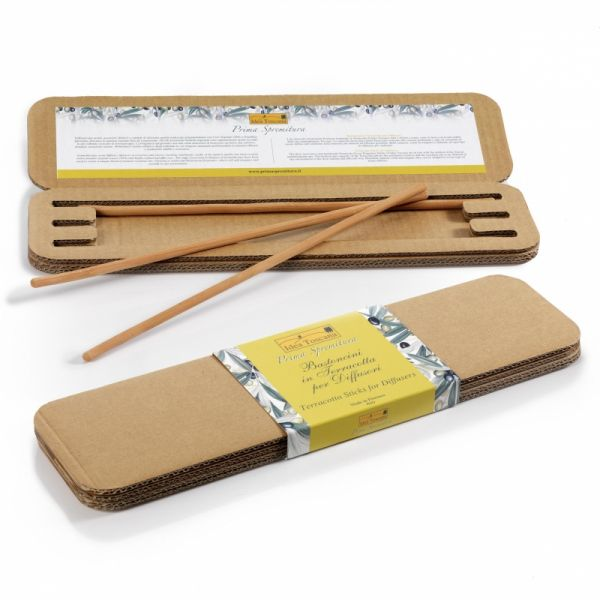 3 Terracotta Sticks für Raumduft